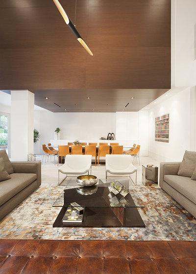 Contemporain Salon by DKOR Interiors Inc.- Interior Designers Miami, FL