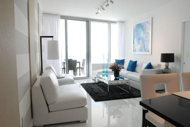 Contemporary Living Room by Guimar Urbina | KIS Interior Design