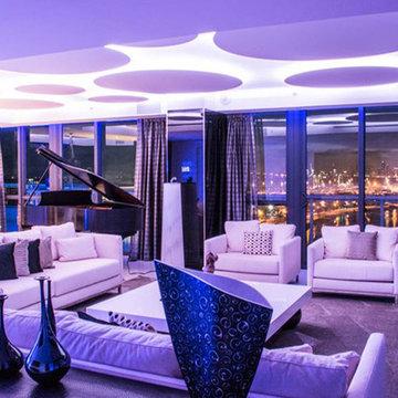 Miami Penthouse Mancave Gameroom Grand Piano