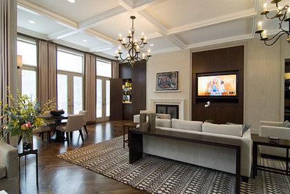 Contemporary Living Room by Michael A. Menn