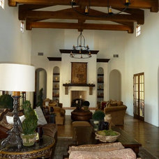 Mediterranean Living Room by Pentimento Lighting and Furnishings