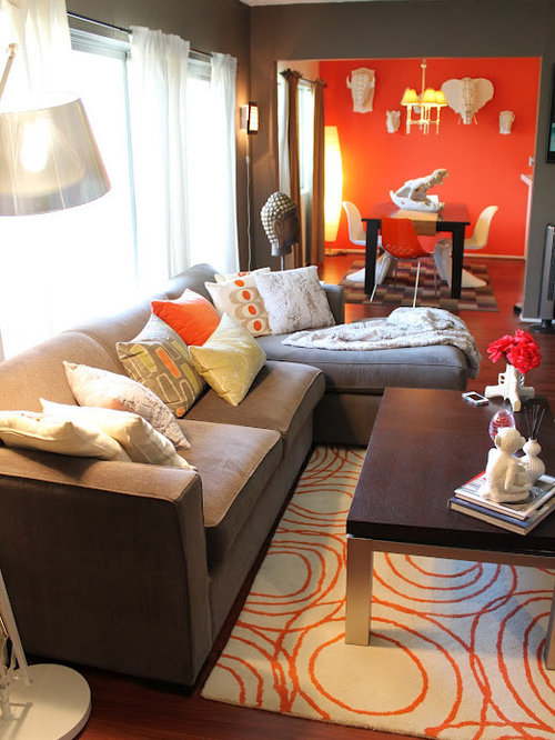 Save email Living room decorating ideas brown and orange