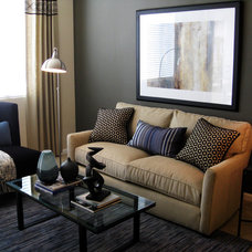 Contemporary Living Room by Michelle Salz-Smith, ASID, CID @ Studio Surface