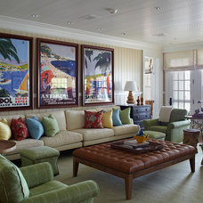 Beach Style Living Room by Tom Stringer Design Partners