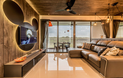 Room of the Day: Familiar Silhouette Animates a Living Area