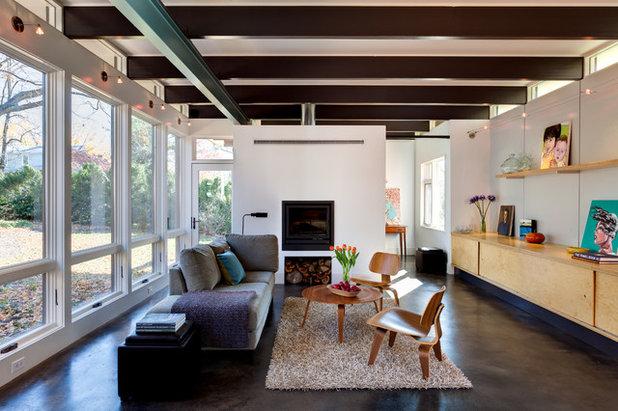 Contemporary Living Room by Andrea Hubbell Photography