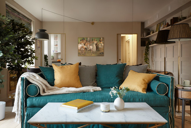 Transitional Living Room by Black and Milk   Interior Design   London