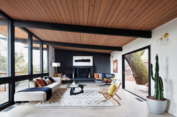 Exceptional Midcentury Living Room By Visual Jill Interior Decorating