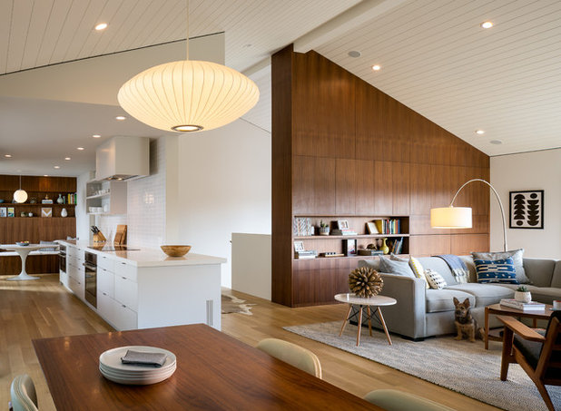 Midcentury Living Room By Building Lab Inc