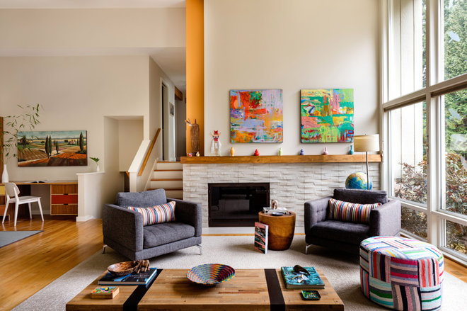 Contemporary Living Room by Ellen Weiss Design