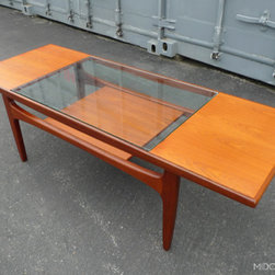 Mid Century Mobler: Past Collections - Mid century G Plan's Fresco teak surfboard coffee table.