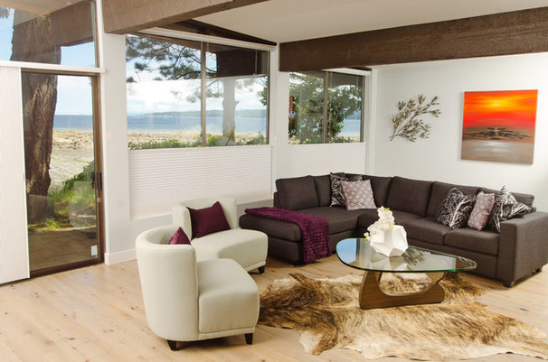 Midcentury Living Room by Denise Mitchell Interiors