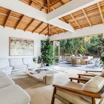Mid-Century Modern Design with Indoor/Outdoor Living Featuring Folding Doors