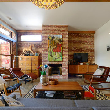 Mid century modern family home situated one metre from workaMy Houzz: Connecting