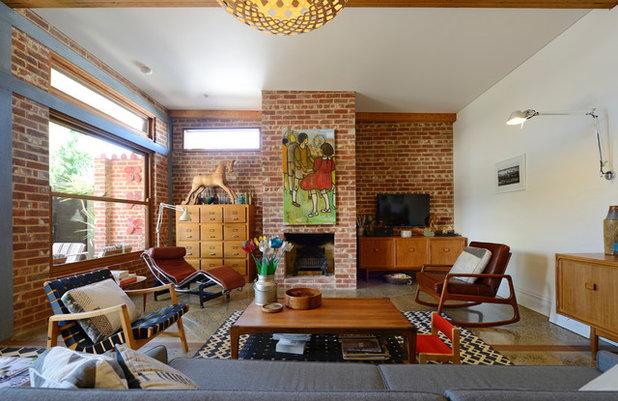 Midcentury Living Room by Jeni Lee