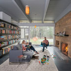 Mid Century Modern In Lincoln Midcentury Living Room