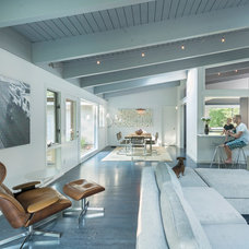 Midcentury Living Room by Flavin Architects