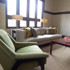 Modern Living Room by Lisa Gilmore Design