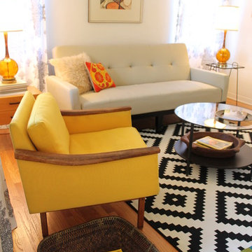 Mid Century Modern Living Room - Small Bungalow