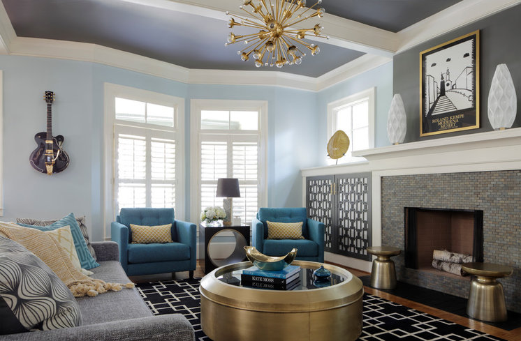Transitional Living Room by Minhnuyet Hardy Interiors
