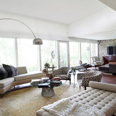 Midcentury Living Room by Cure Design Group