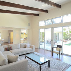 Midcentury Living Room by Rich Mathers Construction, Inc.