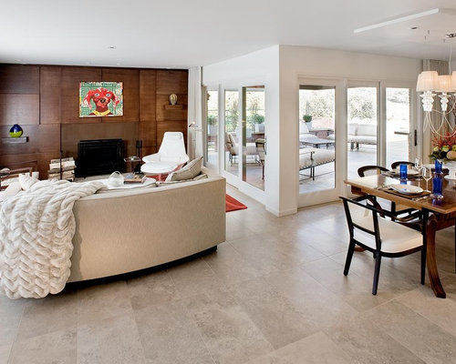 living room tile. Minimalist porcelain floor living room photo in Other with white walls Floor Tiles Modern Living Room  Houzz