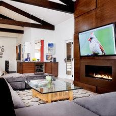 Modern Family Room by Pavilack Design