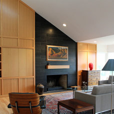 Modern Living Room by Korbich Architects LLC