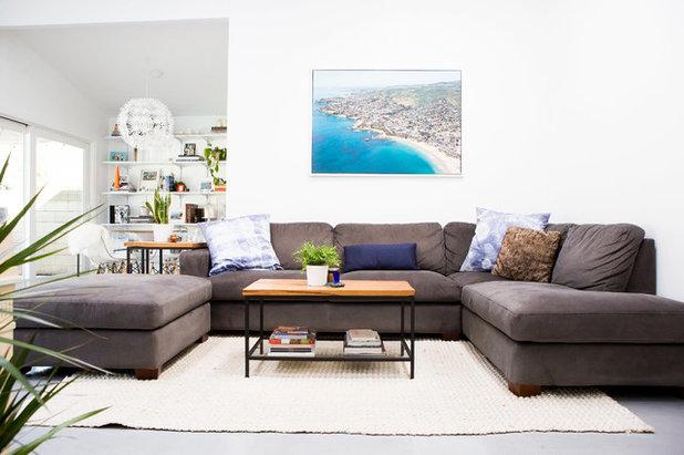 Contemporary Living Room by Katrina Chersicla