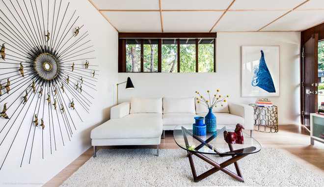 Midcentury Living Room by Kimberly Demmy Design