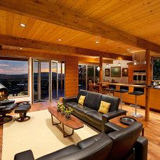 Midcentury Living Room by AB design studio inc.