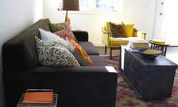 Mid Century Modern Style with Ethnic Textiles