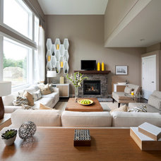 Transitional Living Room by i3 design group