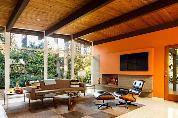 Midcentury Living Room by risa boyer architecture