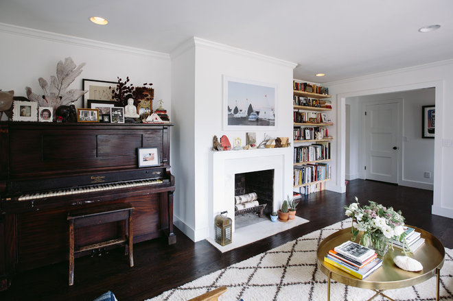 Midcentury living room by crowell co interiors