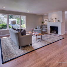 Transitional Living Room by McCall Design llc