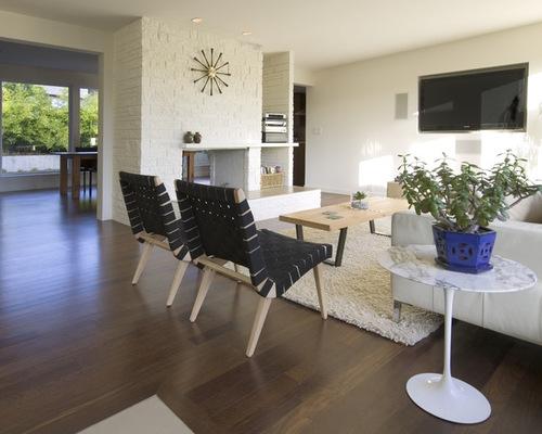 SaveEmail. Midcentury Modern Brick Fireplace   Houzz