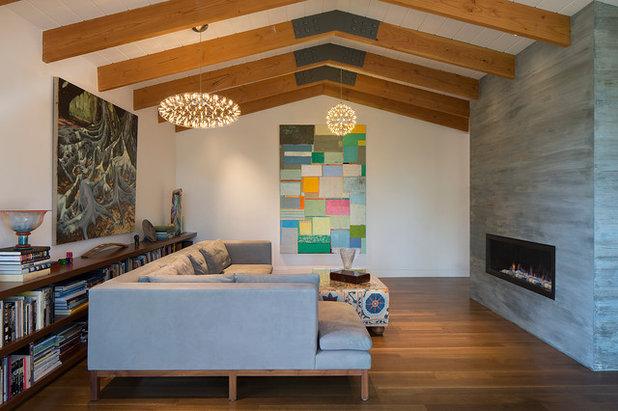 Midcentury Living Room by David Henig, Architect