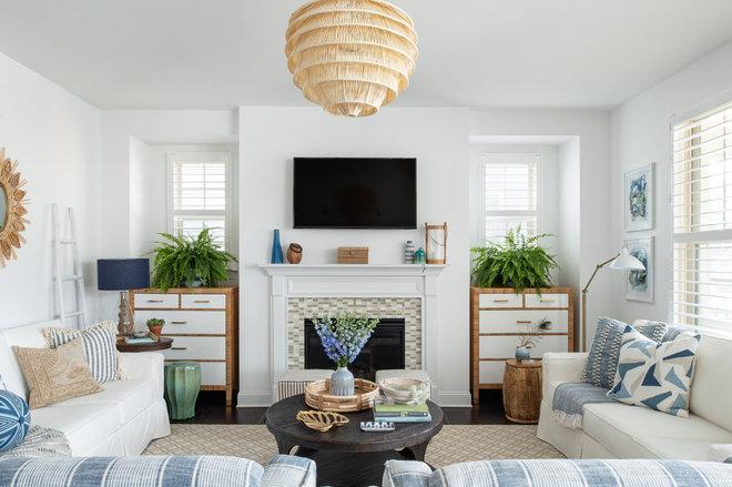 Beach Style Living Room by Mary Hannah Interiors
