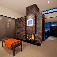 Midcentury Living Room by CITYDESKSTUDIO, Inc.