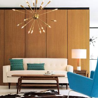 Inspiration för ett retro vardagsrum