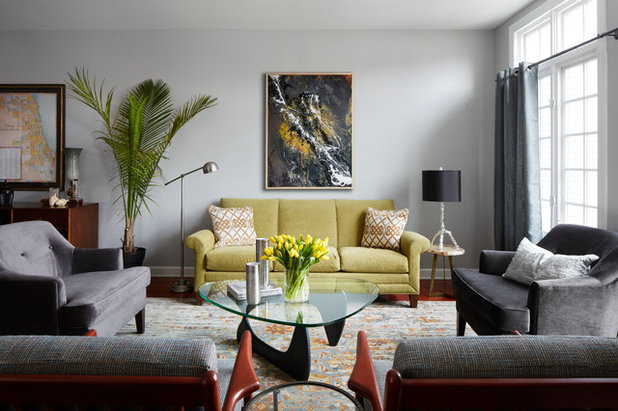 Transitional Living Room by Paula Interiors