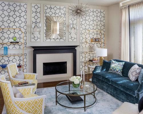 Midcentury living room design ideas renovations photos for Raumgestaltung goerdel