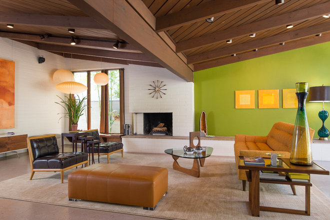 Midcentury Living Room by Scott Basile Photography