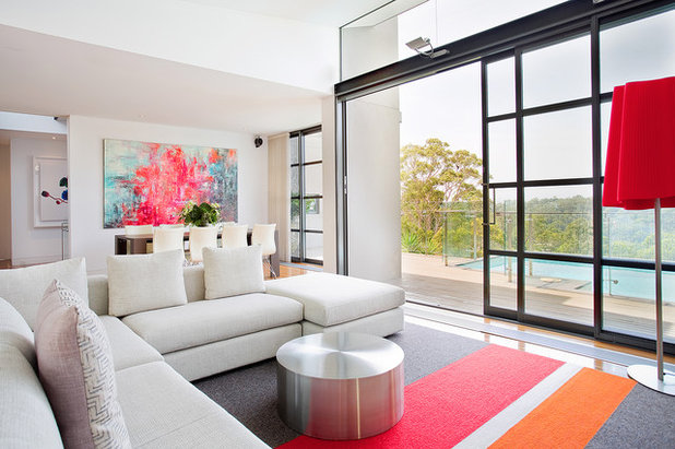 Contemporary Living Room by Bronwyn Poole of Touch Interiors