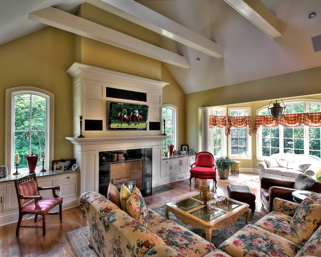 Traditional Family Room by Blansfield Builders, Inc.