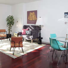 Midcentury Living Room by Birdhouse Interior Design