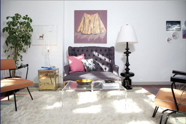 Midcentury Living Room by Birdhouse Design Studio