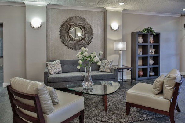 Contemporary Living Room by Anne Sacco Interiors, LLC